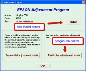 Setting Resetter Epson AdjProg
