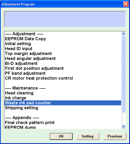 Reset epson resets l210 adjustment Program Resetter